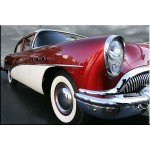 tablo retro car burgundy